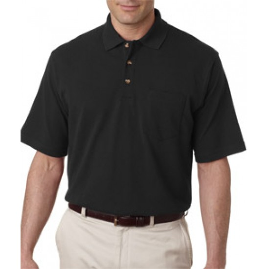 Embroidered Golf Shirts UltraClub Adult Classic Cotton Polo with Pocket
