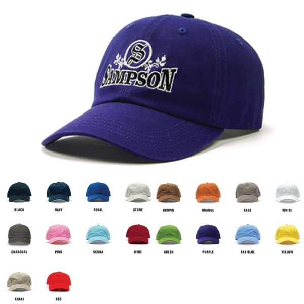 935f3cd3e Custom Relaxed Golf Cap Embroidered with Your Logo