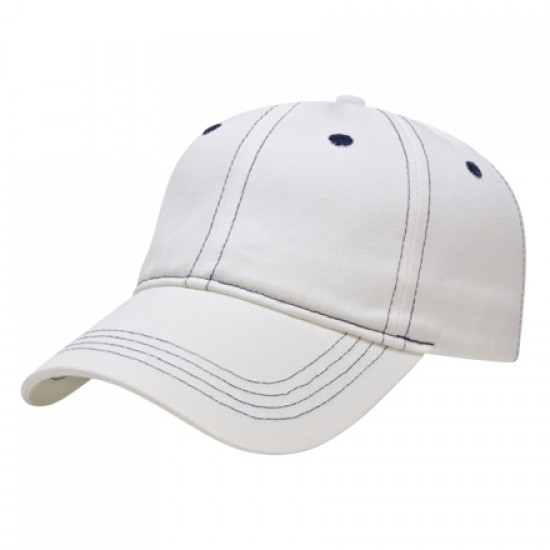 Custom Logo Contrasting Stitch Golf Cap