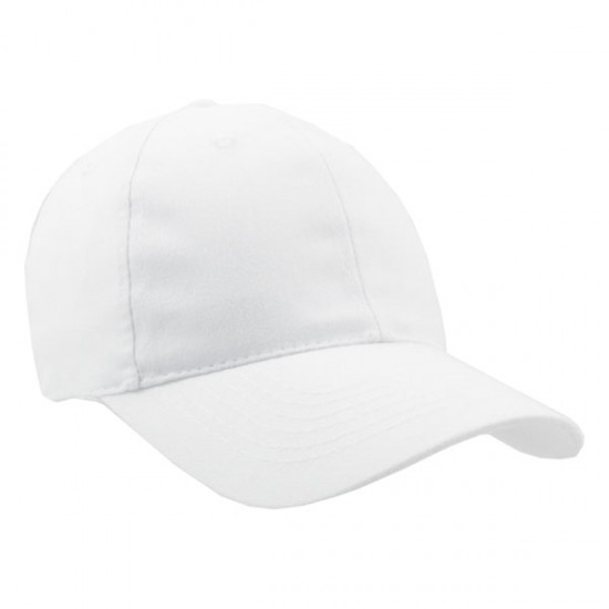 Brushed Cotton Twill Cap with Buckle Closure Embroidered with Your Logo